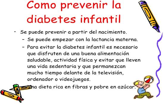 dieta para la diabetes infantil